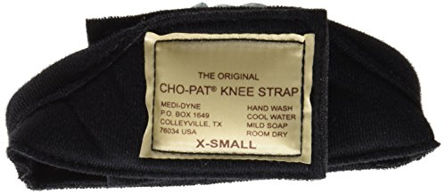 Cho-Pat Original Knee Strap - Recommended by Doctors to Reduce Knee Pain - Black (XS, Less Than 10