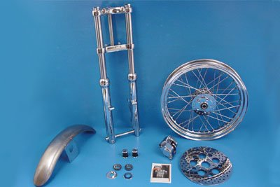 V-Twin 24-1051 - 39mm Chrome Fork Assembly with 19'' Wheel