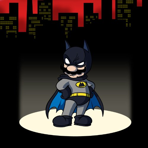 Main Caped Billionaire Hero Video Game & Bat Super Hero Parody - Vinyl Sticker