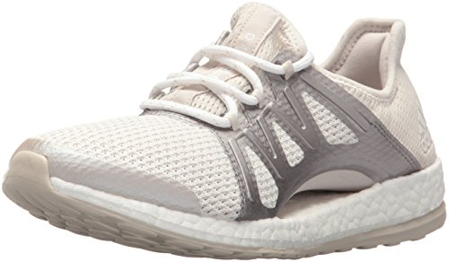 adidas Performance Womens Pureboost Xpose Running Shoe Crystal White/Metallic Silver/Clear Brown M9N4Q