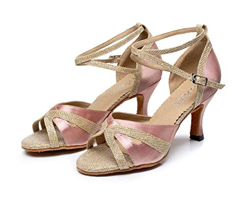 Eu39 Tamaño Pinkheeled7 5 eu40 Latino Salsa De Baile Zapatos Salón Our40 Púrpuraheeled6cm Uk6 Para Alto Mujer uk6 5cm Jazz Tango Tacón our41 Sexy Color nfTxw1x