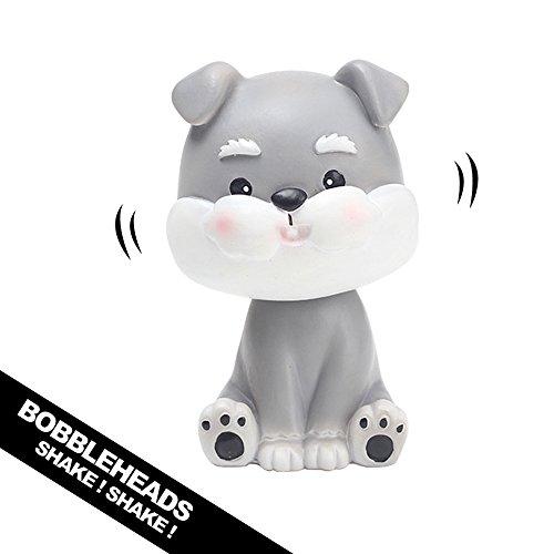 YGMONER Nodding Dog Ornaments Mini Bobble-Head Toys for Car Decoration (schnauzer) ()