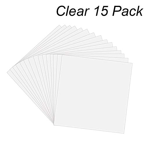 (15 Pack 6 Mil CLEAR Mylar Stencil Sheets, 12