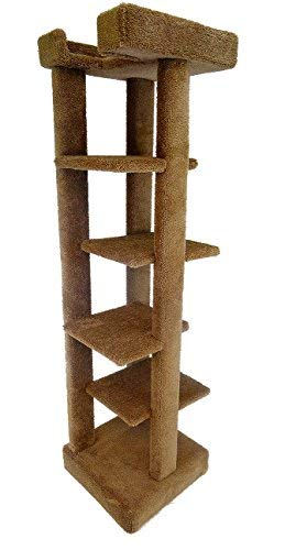 Condo Wood Cat (New Cat Condos Solid Wood 5 level Large Cat Tree Tower)