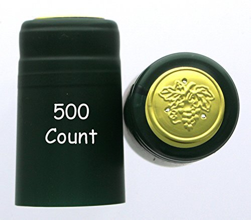 Home Brew Ohio PVC shrink Capsules-500Count, Green