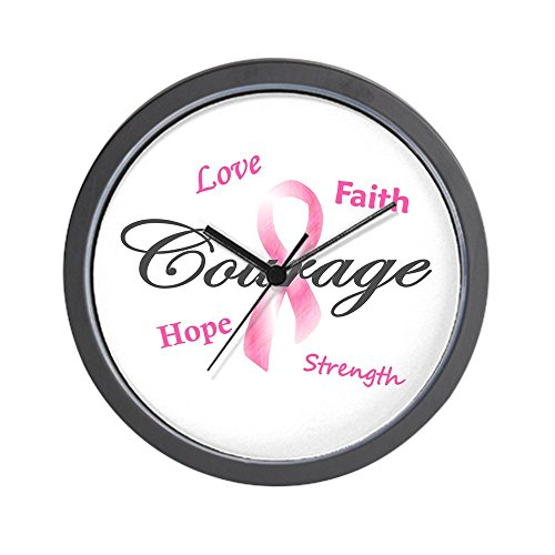 CafePress - Courage Faith Love Hope 1 (Pink) Wall Clock - Unique Decorative 10'' Wall Clock by CafePress