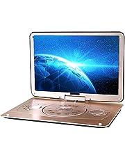 Draagbare Dvd 18 Inch 3D Draagbare EVD-Speler Ultradunne High-Definition Display Ingebouwde Batterij, Afstandsbediening En Reistas Inbegrepen,Gold