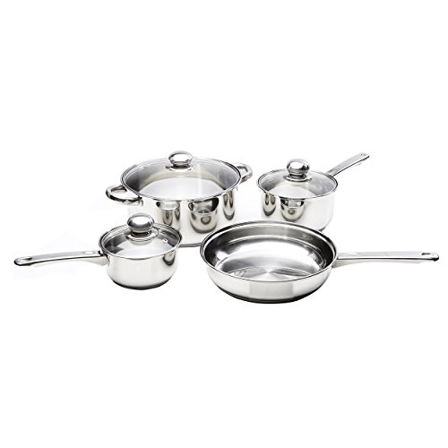 ries Stainless Steel Cookware Set with Lids 29081, 7-Piece, 7 Piece Set, Stainless Steel (Classicor Cookware)