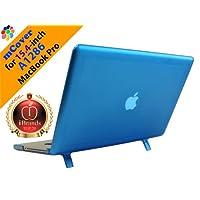 "Funda rígida mCover iPearl con cubierta de teclado GRATUITA para MacBook Pro Unibody de aluminio Modelo A1286 de 15 ""(teclas negras, pantalla regular diagonal de 15.4 pulgadas) - AQUA"