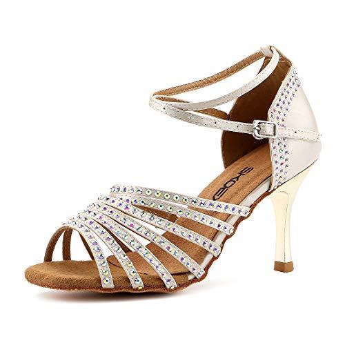 - SKOEX Women's Dance Shoes Ballroom Performance Latin Salsa Dancer Shoe with 3