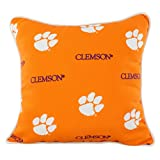 College Covers CLEODP Clemson Tigers Outdoor Decorative Pillow, 16'' x 16'', Orange