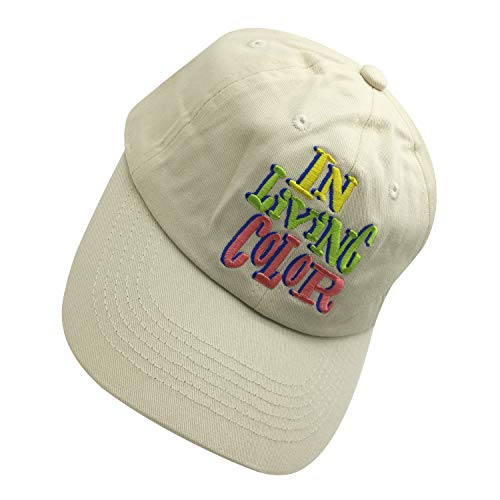 - in Living Color 90s Baseball Cap Adjustable Dad Hat Embroidered Baseball Cap Cream