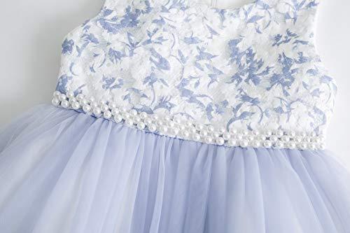 Bambina Abiti Elegante Formale To Cerimonia Ragazza 2 Tulle Principessa Cielarko Vestito Blu Per Floreale Vestiti 11 Anni 35qRc4AjL