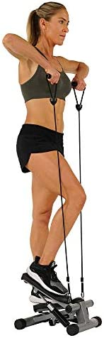 Sunny Health & Fitness Mini Stepper with Resistance Bands 6