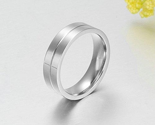 Verlobungsringe Ringe Ringe Mit Band Unisex Cz Weiss 6mm Zirkonia Fur