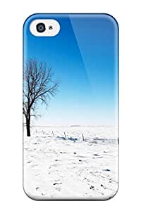 Protective Tpu Case With Fashion Design For Iphone 4/4s (alone In Snow)