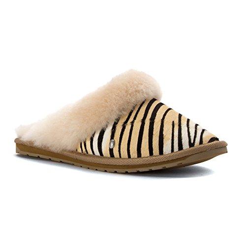 Zapatillas Mujer Emu Jolie Piel Zebra