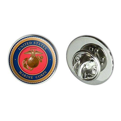 "Marines USMC Golden Logo Licensed 0.75/"" Lapel Pin Tie Tack"