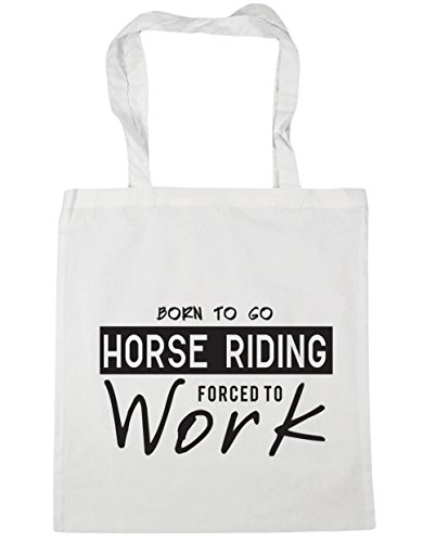 Beach 42cm White to Forced Riding Tote x38cm to Gym HippoWarehouse 10 Born Shopping litres Bag Horse Go Work qROnxnfTPw