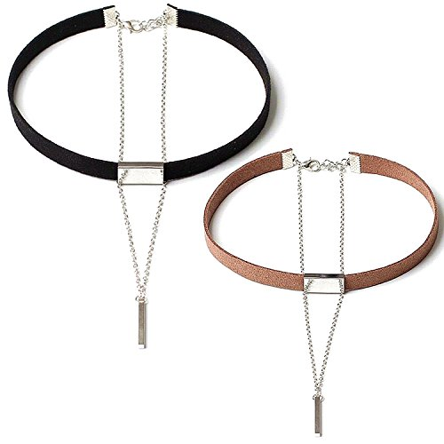Fashion Choker Leather Multilayer Necklace