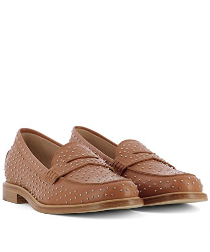 Tods Ladies Xxw87a0x780g0cs002 Mocassini In Pelle Marrone