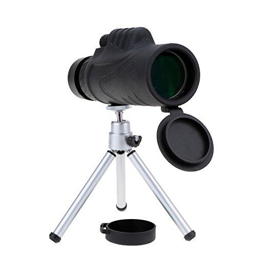 12X52 Super Brightness Monocular Telescope Bak4 Optics Mono Spotting Scope with Tripod for Hunting