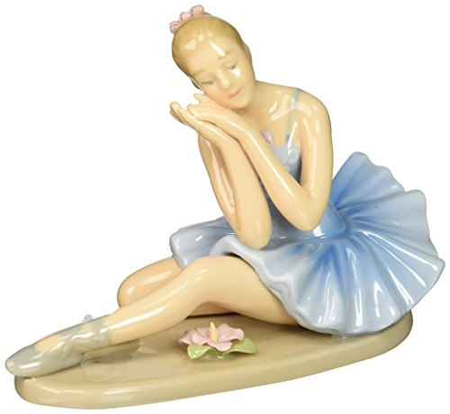 Cosmos 10625 Fine Porcelain Ballerina Dreaming Figurine, 4-5/8-Inch