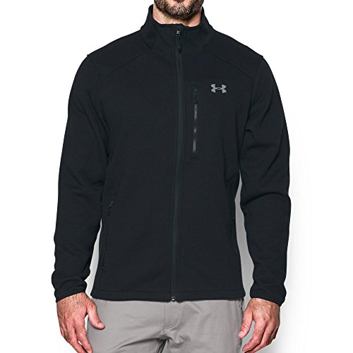 Under Armour Mens Coldgear Granite Fleece Jacket   Medium  Black