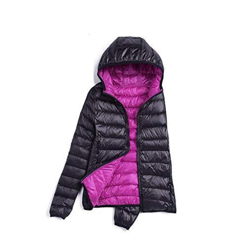 purple Black Veste Air Capuchon Hiver Femme Décontractée Camping Taille color D'hiver Plein 4xl De Chaude Black purple À Pour Légère En Compactable TgqwBpnT