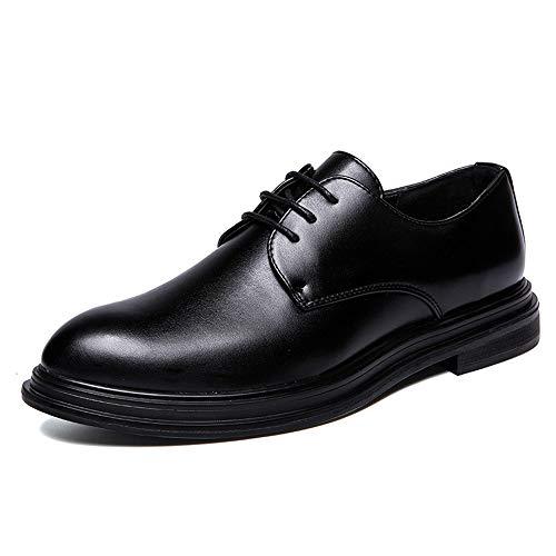 Cordones shoes De Papel Zapatos Hombre Negro Para Jialun RAtxqZx