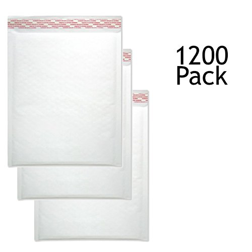 SVI Sales 10.5'' x 16'' Padded Self Seal Bubble Lined White Mailers Ship with UPS, USPS, FedEx and More, Pack White Colored White Bubble Mailers by SVI Sales