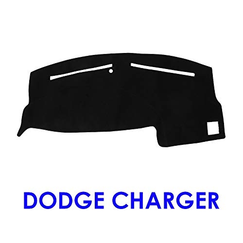 JIAKANUO Auto Car Dashboard Carpet Dash Board Cover Mat Fit for Dodge Charger 2011-2018 (Black - Dash Charger Carpet New Cover