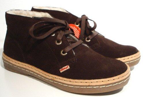 FRODDO Schuhe Warmfutter Halbschuhe braun Leder Schnürschuhe