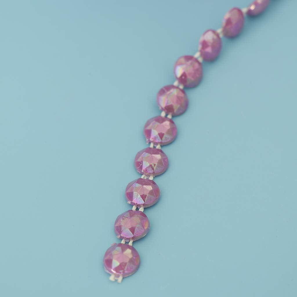 DIY Perlengirlande Perlenband Perlenkette Perlenvorhang f/ür T/ür Wand Fenster und andere Wohnkultur Rot aus Plastik