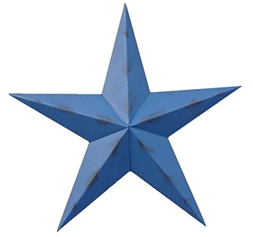 32 Inch Rustic Blue Barn Star Made with Galvanized Metal to Prevent Rusting. Amish Hand Made Your Source for Heavy Duty Metal Tin Barn Stars and Primitive Style Stars for Your Country Crafts and Home and Garden Decor. American Handcrafted – Made in the Usa!