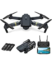 $79 » Foldable Drone with 720P HD Camera for kids and Adults ,FPV Live Video RC Quadcopter for Beginners Kids toys, 3D Flips,Trajectory Flight, App Control, One Key Start, Headless Mode, 3 Batteries