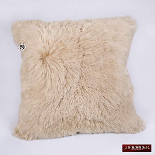 Handmade Suri Alpaca Fur Pillow Cover 18x18