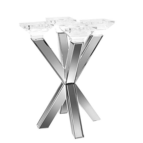 Sagebrook Home Mirrored 4 Cup Candle Holder, 12.75