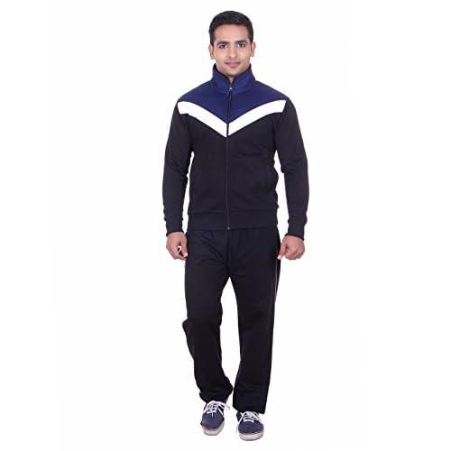 4112lpQ P1L. SS500  - Vivid Bharti Men's High Neck Fleece Tracksuit