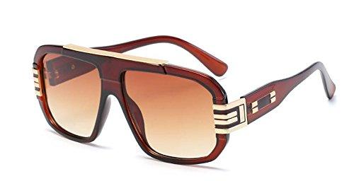 Lennon soleil métallique B en de rond inspirées vintage polarisées retro lunettes du cercle Gradient style Thé w8RPZ