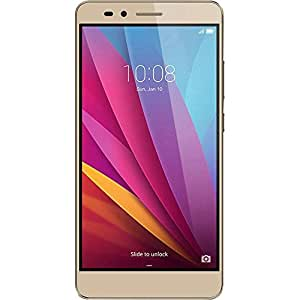 "Honor 5X - Smartphone Libre de 5.5"" (Bluetooth 4.1, 1.5 GHz Octa-Core, Qualcomm, 2 GB de RAM, 16 GB de Memoria Interna, cámara de 13 MP/5 MP, LTE, Android 5.1), Color Dorado"