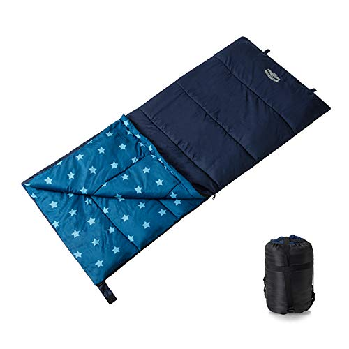 Pacific Pass Kids Sleeping Bag with Carry Bag Temperature 50 Degree