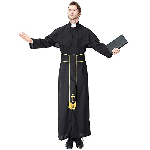 QZ Mens Adults Vicar Priest Clergyman Church Father