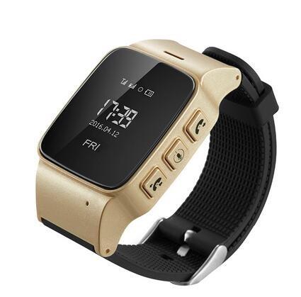 D99 aux personnes âgées Smart Watch IP54 étanche SOS Montre-bracelet Wifi lbs GPS Tracker