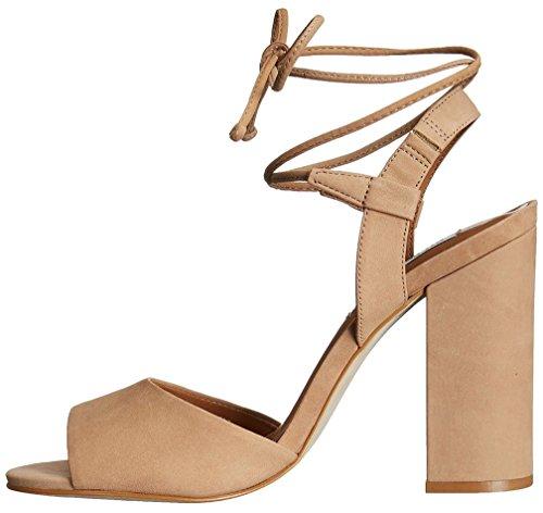 Sandalias Mujer de Capolice Vestir Beige Calaier Sintético Bloquear 10CM Zapatos con Cordones 7qnZ0d