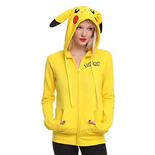 Miracle(Tm) Pokemon Go Pikachu Hoodie - Girls Pokemon Hoodie (Pikachu Hoodie For Sale)