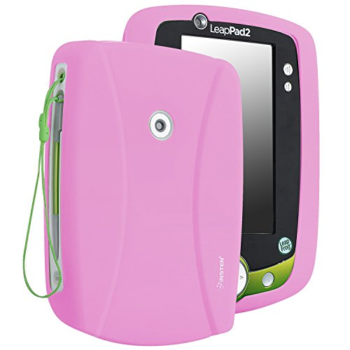 Insten Silicone Skin Case Compatible with Leapfrog LeapPad 2, Baby Pink (Leap Pad 2 Game Case)