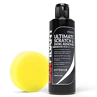 Carfidant Black Car Scratch Remover - Ultimate Scratch and Swirl Remover for Black and Dark Paints- Polish & Paint Restorer - Easily Repair Paint Scratches, Scratches, Water Spots! Car Buffer Kit