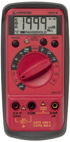 Amprobe 15XP-B Compact Digital Multimeter with Non-Contact Voltage Indicator and Logic Test by Amprobe