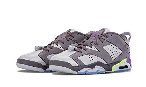 Nike Air Jordan 6 Retro Low Gg, Zapatillas de Running Para Mujer Gris / Morado (Drk Gry / Ultrvlt-Wlf Gry-Ghst G)